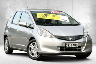 2011 Honda Jazz GE MY12 GLi Alabaster Silver 5 Speed Manual Hatchback.