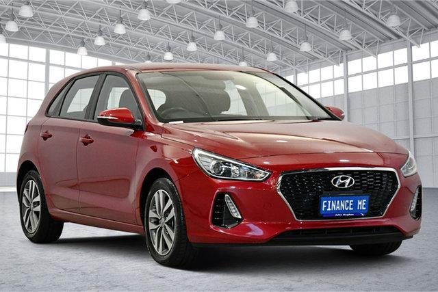 Used Hyundai i30 PD2 MY19 Active Victoria Park, 2019 Hyundai i30 PD2 MY19 Active Red 6 Speed Sports Automatic Hatchback