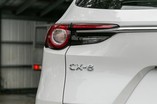 2020 Mazda CX-8 KG4W2A GT SKYACTIV-Drive i-ACTIV AWD Snowflake White Pearl 6 Speed Sports Automatic
