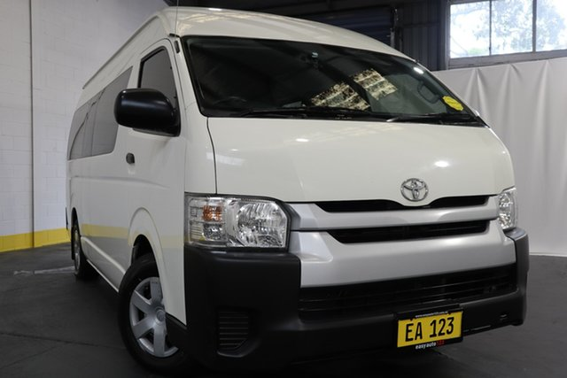 Used Toyota HiAce KDH223R Commuter High Roof Super LWB Castle Hill, 2016 Toyota HiAce KDH223R Commuter High Roof Super LWB White 4 Speed Automatic Bus