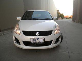 2014 Suzuki Swift FZ MY14 GL Pearlescent White 4 Speed Automatic Hatchback