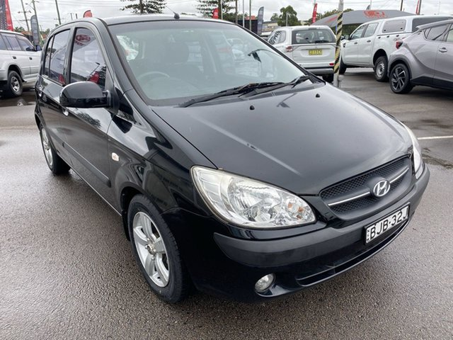 Used Hyundai Getz TB MY09 S Cardiff, 2009 Hyundai Getz TB MY09 S Black 5 Speed Manual Hatchback