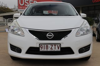 2013 Nissan Pulsar C12 ST White 1 Speed Constant Variable Hatchback