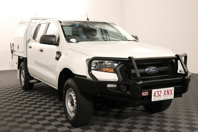 Used Ford Ranger PX MkII XL Acacia Ridge, 2016 Ford Ranger PX MkII XL Cool White 6 speed Automatic Cab Chassis