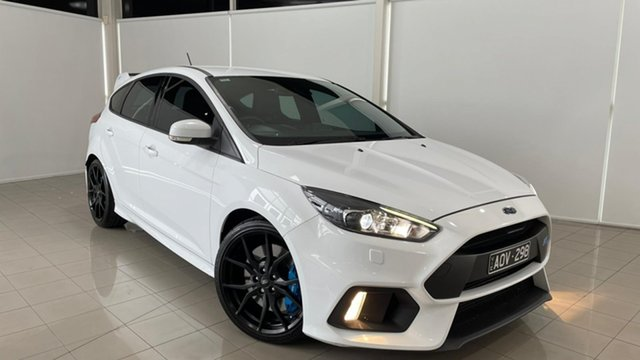 Used Ford Focus LZ RS AWD Deer Park, 2017 Ford Focus LZ RS AWD White 6 Speed Manual Hatchback