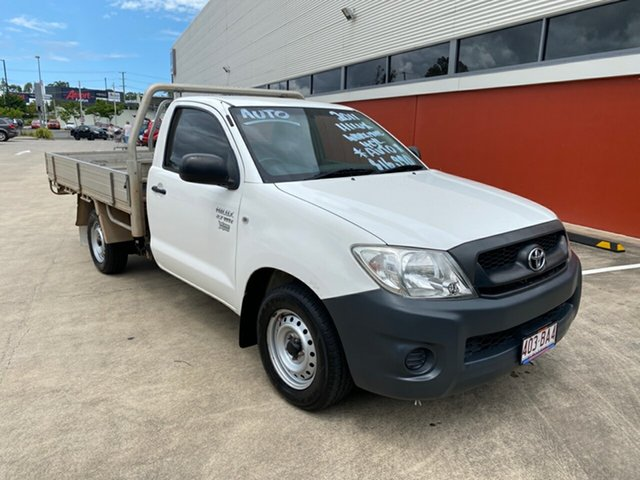 Used Toyota Hilux Morayfield, 2011 Toyota Hilux WORKMATE TGN16R MY11 UPGRADE White 4 Speed Auto Active Select Cab Chassis
