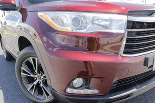 2016 Toyota Kluger GSU55R GXL (4x4) Deep Red 6 Speed Automatic Wagon.