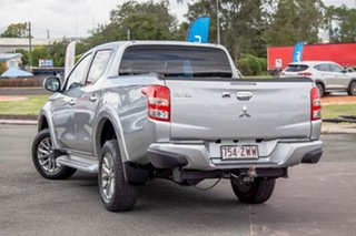 2017 Mitsubishi Triton MQ MY17 GLS Double Cab Silver 6 Speed Manual Utility.