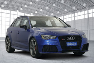 2016 Audi RS 3 8V MY16 Sportback S Tronic Quattro Blue 7 Speed Sports Automatic Dual Clutch.