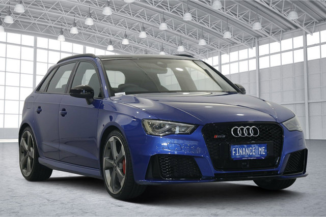 Used Audi RS 3 8V MY16 Sportback S Tronic Quattro Victoria Park, 2016 Audi RS 3 8V MY16 Sportback S Tronic Quattro Blue 7 Speed Sports Automatic Dual Clutch