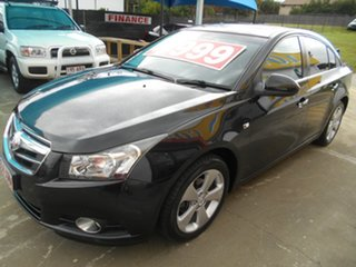 2011 Holden Cruze JG CDX Black 6 Speed Sports Automatic Sedan.