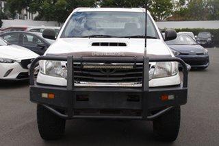 2011 Toyota Hilux KUN26R MY12 SR Xtra Cab White 5 Speed Manual Utility.