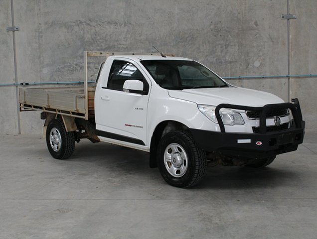 Used Holden Colorado RG MY13 LX Caloundra, 2013 Holden Colorado RG MY13 LX White 5 speed Manual Cab Chassis