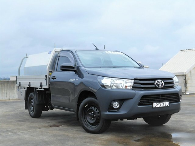 Used Toyota Hilux TGN121R Workmate 4x2 Brookvale, 2018 Toyota Hilux TGN121R Workmate 4x2 Grey 5 Speed Manual Cab Chassis