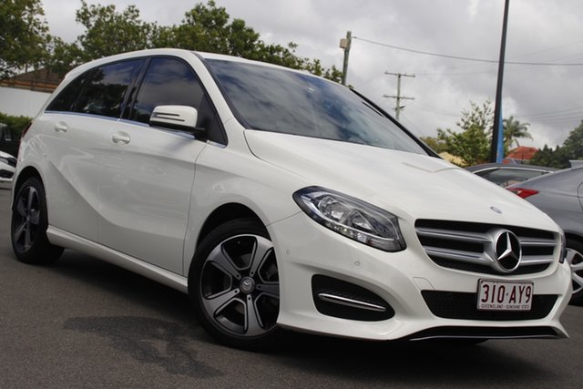 Used Mercedes-Benz B-Class W246 807MY B180 DCT Mount Gravatt, 2017 Mercedes-Benz B-Class W246 807MY B180 DCT White 7 Speed Sports Automatic Dual Clutch Hatchback
