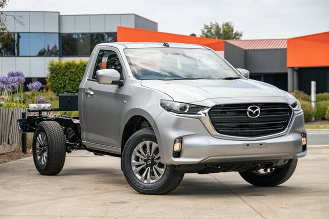 New Mazda BT-50 TFS40J XT Mornington, 2021 Mazda BT-50 TFS40J XT Ice White 6 Speed Manual Cab Chassis