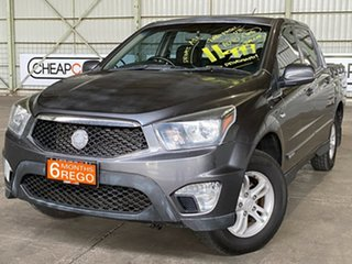 2012 Ssangyong Actyon Sports Q150 MY12 SX Grey 6 Speed Sports Automatic Utility.