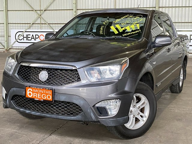 Used Ssangyong Actyon Sports Q150 MY12 SX Rocklea, 2012 Ssangyong Actyon Sports Q150 MY12 SX Grey 6 Speed Sports Automatic Utility