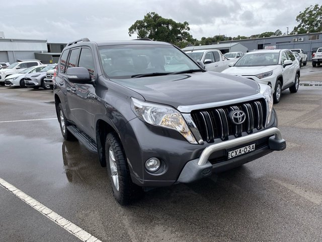 Used Toyota Landcruiser Prado KDJ150R MY14 GXL Cardiff, 2014 Toyota Landcruiser Prado KDJ150R MY14 GXL Grey 5 Speed Sports Automatic Wagon