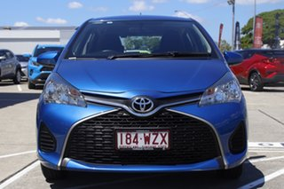 2016 Toyota Yaris NCP130R Ascent Tidal Blue 4 Speed Automatic Hatchback