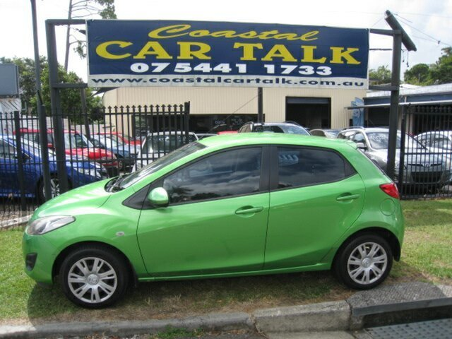 Used Mazda 2 DE MY12 Neo Nambour, 2012 Mazda 2 DE MY12 Neo Green 4 Speed Automatic Hatchback
