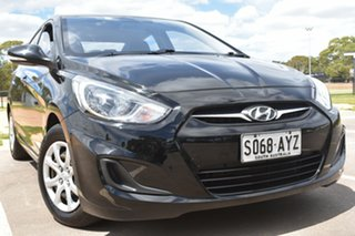 2013 Hyundai Accent RB Active Black 4 Speed Sports Automatic Sedan.