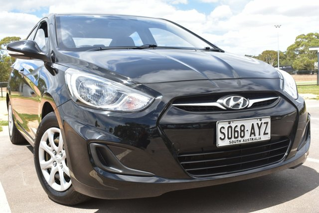 Used Hyundai Accent RB Active St Marys, 2013 Hyundai Accent RB Active Black 4 Speed Sports Automatic Sedan