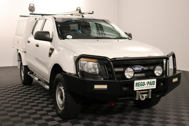 Used Ford Ranger PX XL Acacia Ridge, 2013 Ford Ranger PX XL White 6 speed Automatic Cab Chassis