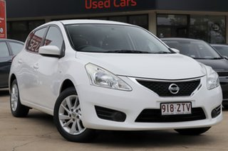 2013 Nissan Pulsar C12 ST White 1 Speed Constant Variable Hatchback.