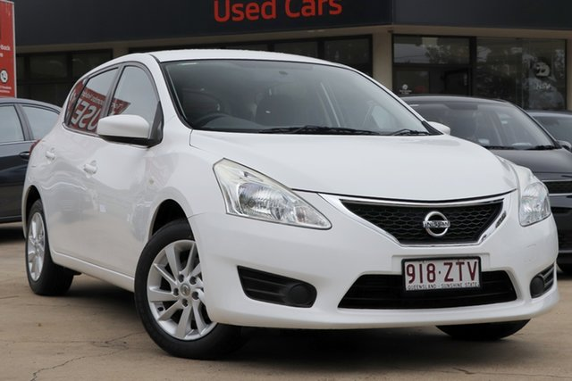 Used Nissan Pulsar C12 ST Toowoomba, 2013 Nissan Pulsar C12 ST White 1 Speed Constant Variable Hatchback