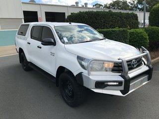 2017 Toyota Hilux GUN126R SR Double Cab White 6 speed Automatic Utility.