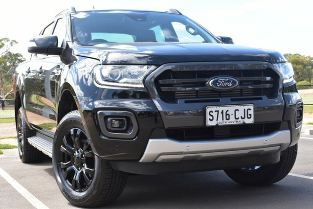 Used Ford Ranger PX MkIII 2019.00MY Wildtrak St Marys, 2019 Ford Ranger PX MkIII 2019.00MY Wildtrak Black 10 Speed Sports Automatic Double Cab Pick Up