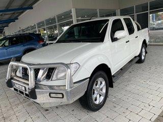 2012 Nissan Navara ST White Manual Dual Cab Utility.