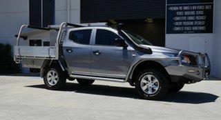2016 Mitsubishi Triton MQ MY16 GLX Double Cab Grey 6 Speed Manual Utility.