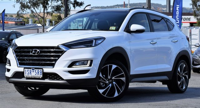 Demo Hyundai Tucson TL3 MY21 Highlander AWD Ferntree Gully, 2020 Hyundai Tucson TL3 MY21 Highlander AWD Pure White 8 Speed Sports Automatic Wagon