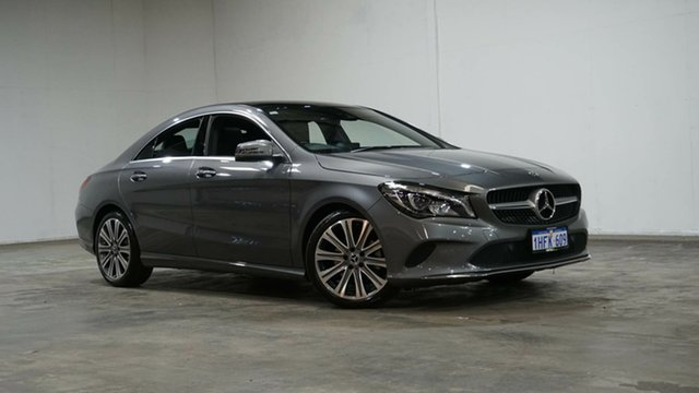 Used Mercedes-Benz CLA-Class C117 808+058MY CLA200 DCT Welshpool, 2017 Mercedes-Benz CLA-Class C117 808+058MY CLA200 DCT Grey 7 Speed Sports Automatic Dual Clutch
