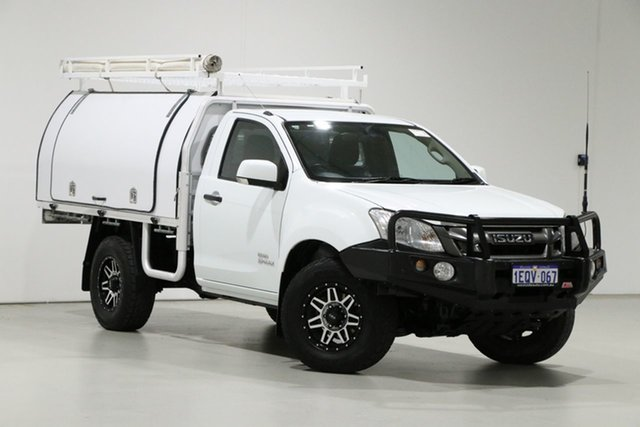 Used Isuzu D-MAX TF MY14 SX (4x4) Bentley, 2014 Isuzu D-MAX TF MY14 SX (4x4) White 5 Speed Manual Cab Chassis