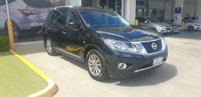 Used Nissan Pathfinder R52 Series II MY17 ST-L X-tronic 2WD Ravenhall, 2017 Nissan Pathfinder R52 Series II MY17 ST-L X-tronic 2WD Black 1 Speed Constant Variable Wagon