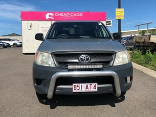 2005 Toyota Hilux TGN16R MY05 Workmate 4x2 Silver 5 Speed Manual Cab Chassis