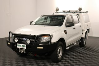 2013 Ford Ranger PX XL White 6 speed Automatic Cab Chassis.