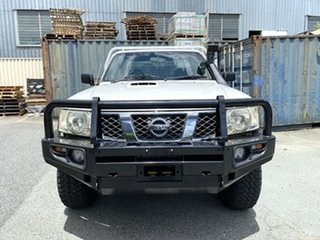 2008 Nissan Patrol GU 6 MY08 DX White 5 Speed Manual Cab Chassis
