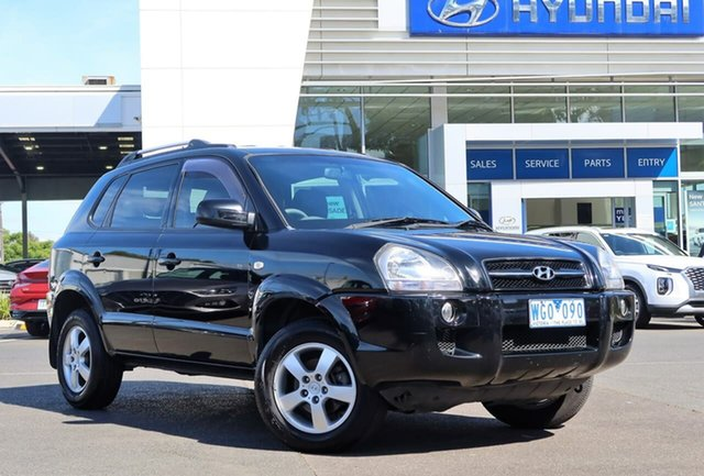 Used Hyundai Tucson JM MY07 City SX South Melbourne, 2007 Hyundai Tucson JM MY07 City SX Black 5 Speed Manual Wagon