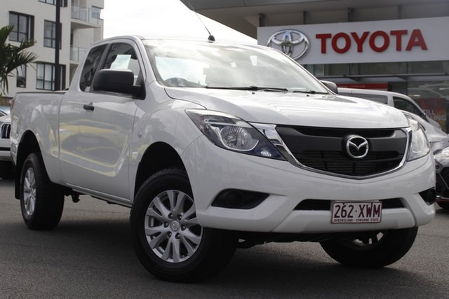 Pre-Owned Mazda BT-50 UR0YG1 XT Freestyle Upper Mount Gravatt, 2018 Mazda BT-50 UR0YG1 XT Freestyle White 6 Speed Sports Automatic Cab Chassis