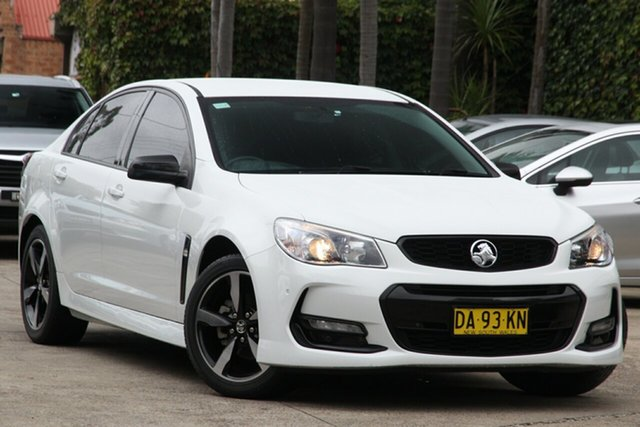 Pre-Owned Holden Commodore Vfii MY16 SV6 Black Edition Mosman, 2016 Holden Commodore Vfii MY16 SV6 Black Edition White 6 Speed Automatic Sedan