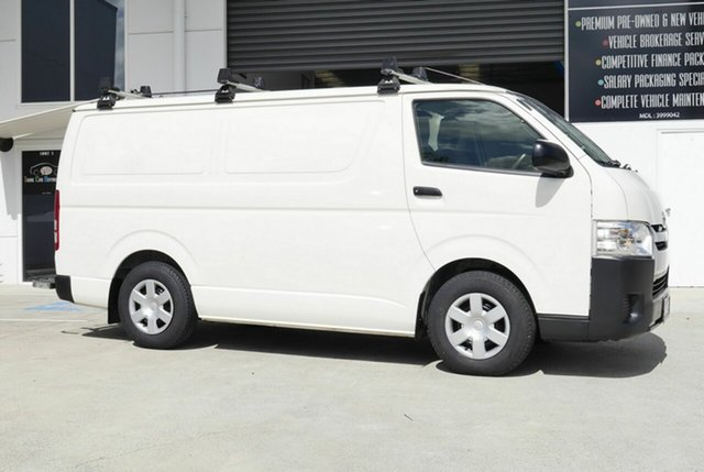 Used Toyota HiAce KDH201R LWB Capalaba, 2017 Toyota HiAce KDH201R LWB White 5 Speed Manual Van
