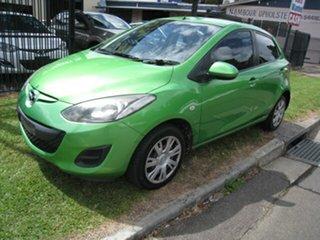 2012 Mazda 2 DE MY12 Neo Green 4 Speed Automatic Hatchback.