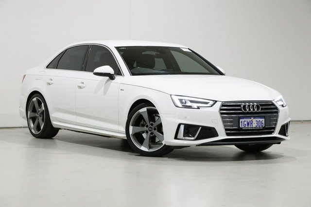 Used Audi A4 8W MY19 35 TFSI S Tronic Sport Bentley, 2019 Audi A4 8W MY19 35 TFSI S Tronic Sport White 7 Speed Auto Dual Clutch Sedan