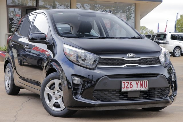 Used Kia Picanto JA MY18 S Toowoomba, 2018 Kia Picanto JA MY18 S Black 4 Speed Automatic Hatchback