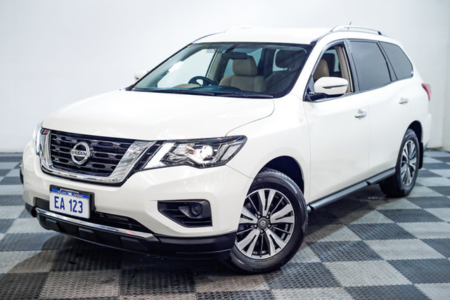 Used Nissan Pathfinder R52 Series II MY17 ST X-tronic 2WD Edgewater, 2017 Nissan Pathfinder R52 Series II MY17 ST X-tronic 2WD White 1 Speed Constant Variable Wagon