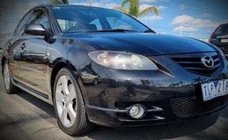 2005 Mazda 3 BK1031 SP23 Black 4 Speed Sports Automatic Sedan.